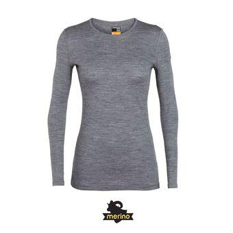 Icebreaker 200 OASIS LS CREWE - Camiseta térmica mujer gritstone/hthr