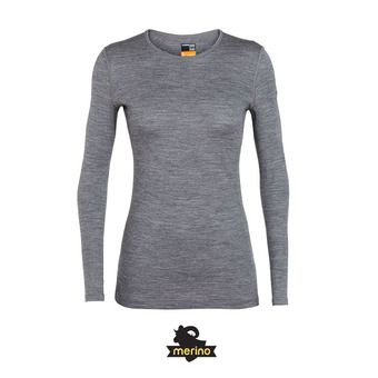 Icebreaker 200 OASIS LS CREWE - Maglia termica Donna gritstone/hthr