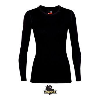 Icebreaker 260 TECH LS CREWE - Camiseta térmica mujer black