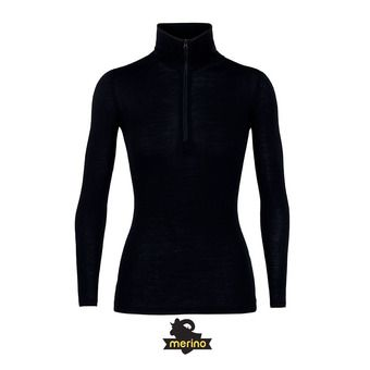 175 Everyday LS Half Zip Femme Black