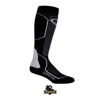 Chaussettes de ski femme SKI+ MEDIUM OTC black/oil/silver
