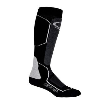 Icebreaker SKI+ MEDIUM OTC - Socks - Women's - black/oil/silver