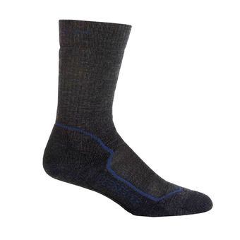 Icebreaker HIKE+ MEDIUM CREW - Chaussettes Homme jet hthr/planet/black