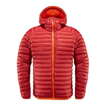 Haglofs ESSENS MIMIC - Down Jacket - Men's - rubin/cayenne