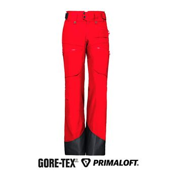 Pantalón Gore-tex® mujer LOFOTEN INSULATED jester red