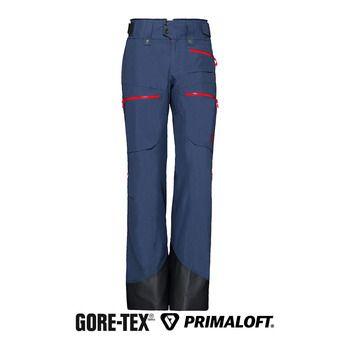 Norrona LOFOTEN INSULATED GTX - Pantalón de esquí mujer vintage indigo