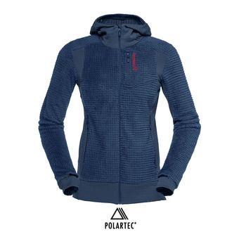 Polaire zippée à capuche Polartec® femme LOFOTEN ALPHA RAW vintage indigo