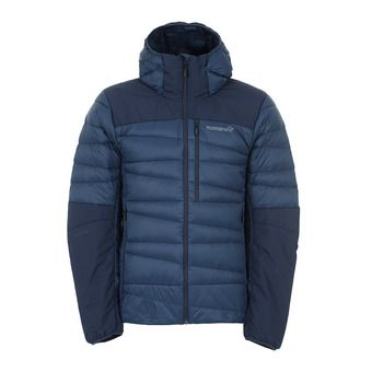 falketind down hood Jacket Homme Indigo Night