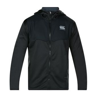 Polaire zippée à capuche homme SPACER FLEECE black