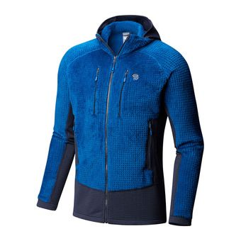 Polaire zippée à capuche homme MONKEY MAN™ GRID II nightfall blue