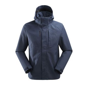 Veste à capuche homme TRACK ZIP-IN eclipse blue