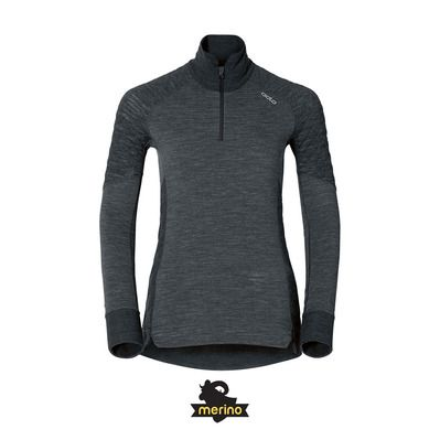 WARM Sport NATURAL Camiseta black Private X melange Shop mujer térmica xTPqHI