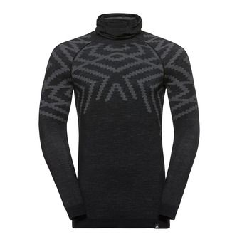 Odlo NATURAL + KINSHIP WARM - Base Layer - Men's - black marl