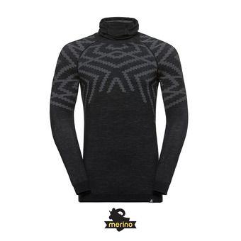 Odlo NATURAL KINSHIP - Camiseta térmica hombre black melange