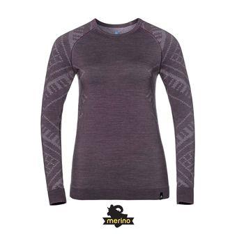 Camiseta térmica mujer NATURAL + KINSHIP WARM vintage violet melange