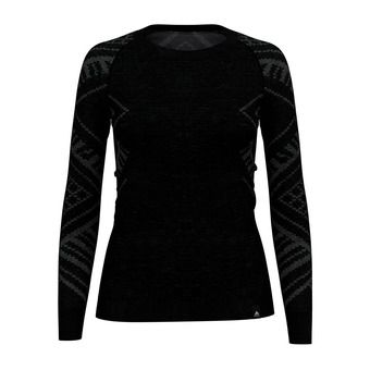 Odlo NATURAL + KINSHIP WARM - Base Layer - Women's - black marl