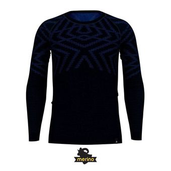 Camiseta térmica hombre NATURAL + KINSHIP WARM diving navy melange