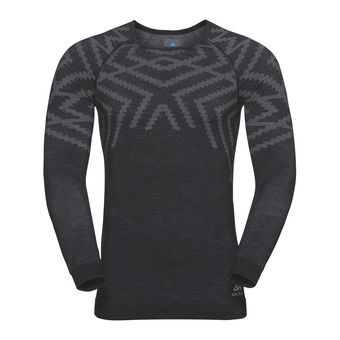 Odlo NATURAL KINSHIP WARM - Base Layer - Men's - black marl