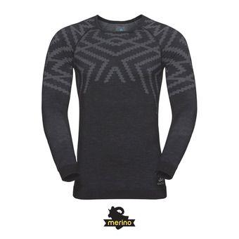 Camiseta térmica hombre NATURAL + KINSHIP WARM black melange