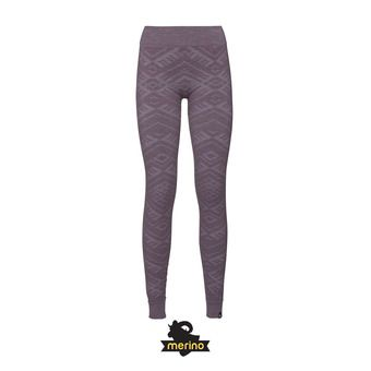 Odlo NATURAL WARM - Collant Femme vintage violet melange