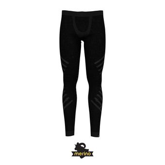 Odlo NATURAL + KINSHIP WARM - Collant Homme black melange