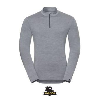 Odlo NATURAL MERINO WARM - Sous-couche Homme grey melange/grey melange