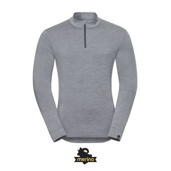 Sous-couche ML 1/2 zip homme NATURAL MERINO WARM grey melange/grey melange
