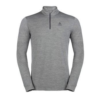 Odlo NATURAL MERINO WARM - Base Layer - Men's - grey marl/grey marl