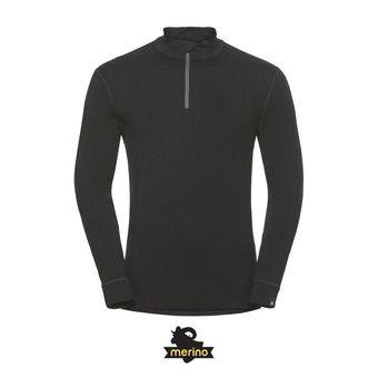 Sous-couche ML 1/2 zip homme NATURAL MERINO WARM black/black