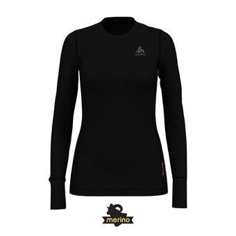 Camiseta térmica mujer NATURAL MERINO WARM black/black
