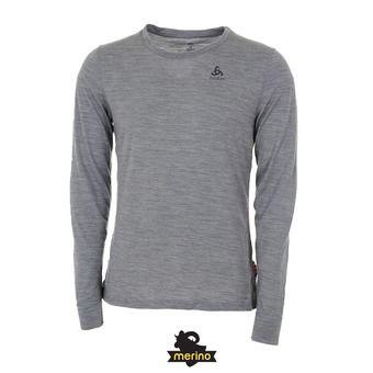 Odlo NATURAL 100% MERINO - Sous-couche Homme grey melange/grey melange