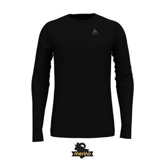 Odlo NATURAL 100% MERINO - Sous-couche Homme black/black