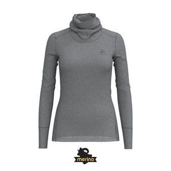 Odlo NATURAL MERINO WARM - Sous-couche Femme grey melange/grey melange