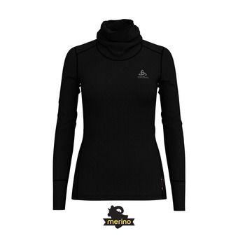 Camiseta térmica mujer NATURAL MERINO WARM CM black/black