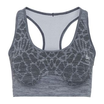 Odlo BLACKCOMB SEAMLESS - Sports Bra - Women's - diving navy/silver grey