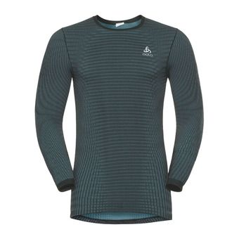 Odlo FUTURESKIN BLACKCOMB - Camiseta térmica hombre stormy weather/black