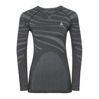 Camiseta térmica mujer PERFORMANCE BLACKCOMB black/concrete grey