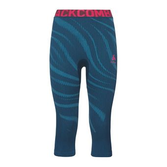 Odlo PERFORMANCE BLACKCOMB - Collant 3/4 Femme poseidon/turkish tile/diva pink