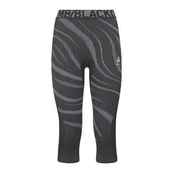 Odlo PERFORMANCE BLACKCOMB - Mallas 3/4 mujer black/concrete grey