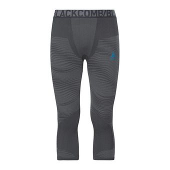 Odlo PERFORMANCE BLACKCOMB - Collant 3/4 Homme black/concrete grey/silver