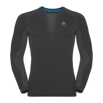 Odlo PERFORMANCE WARM - Camiseta térmica hombre black/odlo concrete grey