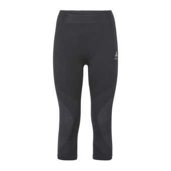 Odlo PERFORMANCE WARM - 3/4 Tights - Women's - black/concrete grey