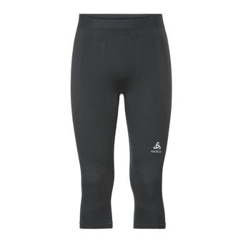 Odlo PERFORMANCE WARM - Collant 3/4 Homme black/concrete grey