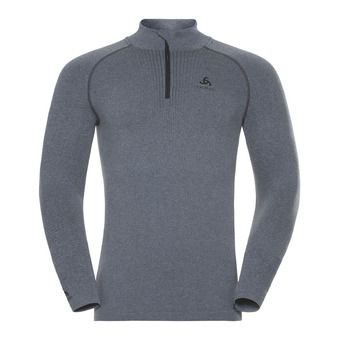 Sous-couche ML 1/2 zip homme PERFORMANCE WARM grey melange/black