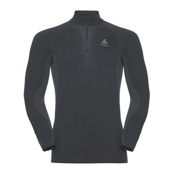 Odlo PERFORMANCE WARM - Maglia termica Uomo black/odlo concrete grey