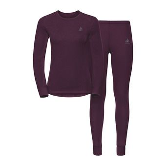 Odlo ACTIVE ORIGINALS WARM - Ensemble sous-couche Femme pickled beet