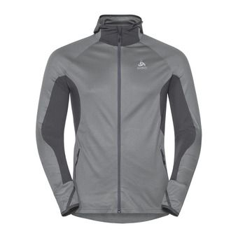 Odlo BLAZE ZW CERAMIWARM - Sweat Homme graphite grey/concrete grey/stripes