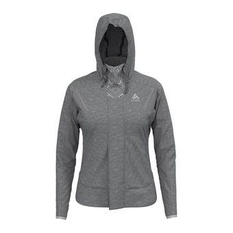 Sweat zippé à capuche femme SKADI X-WARM grey melange