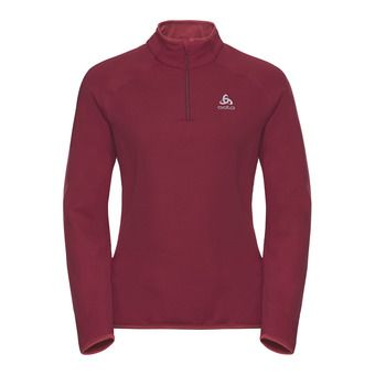 Sweat 1/2 zip femme CARVE WARM rumba red