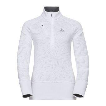 Sweat 1/2 zip femme BIRDY 18 white/aop